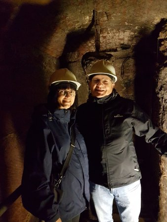 Photo of me & my wife in the Tunnel.