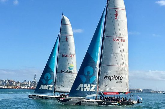 America's Cup Racing Cruise on Auckland's Waitemata Harbor