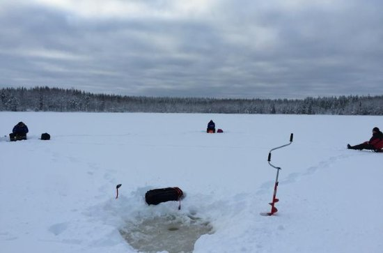 Snowshoeing and Ice fishing tour