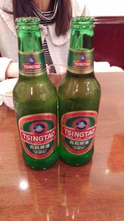 三和楼, 青島ビール。