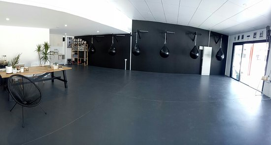 Byron Bay, Avustralya: Bottom floor is Boxing and Boxing Conditioning