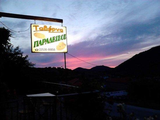 Filia, Greece: η θέα από το μαγαζί
