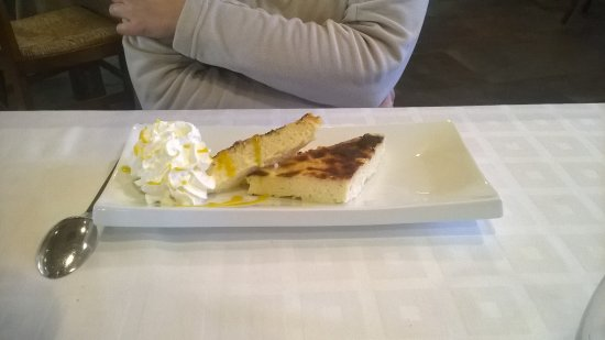 Senegue, Spanje: Tarta de queso.