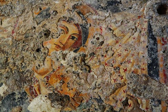 Lentini, Italie : Madonna che allatta (affreschi)