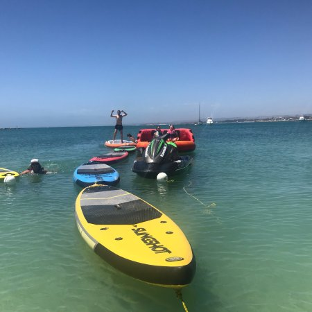 Ultimate Watersports on the Geraldton Foreshore.