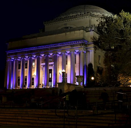 Columbia University : Lowe Library at night