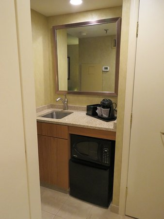 Wayne, PA: microwave, small fridge, coffee pot, and 2nd sink