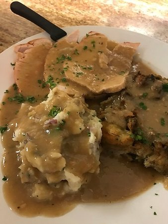 Cologne, NJ: House roasted turkey with homemade stuffing, mashed potatoes, gravy & cranberry sauce
