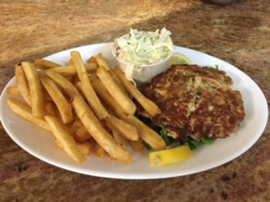 Cologne, NJ: Our award winning crab cake lunch platter with fries and cole slaw