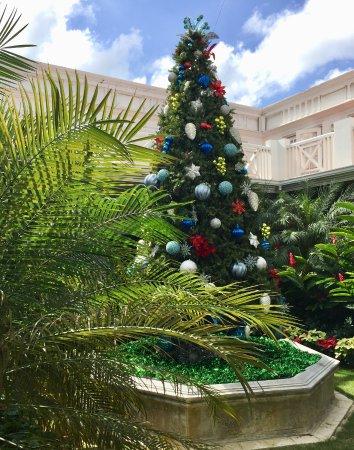 Half Moon : Tropical Christmas tree