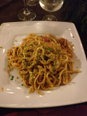 Antichi Sapori Ristorante : Pasta con pistacchi, pomodorini e gamberetti