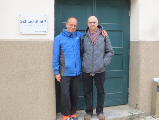 Dresden, Deutschland: Danilo and me at the Slaughterhouse.