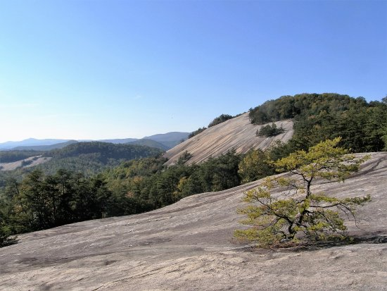 Roaring Gap, NC: Stone Mountain State Park's granite dome provides wonderful views of the countryside.