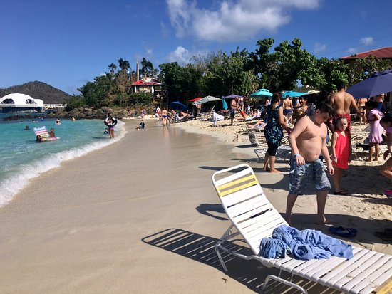 Coki Point Beach: This was when we first got there around 11 am