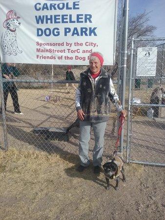 Carole Wheeler Dog Park: Founder, Carole Wheeler and Miss Opal