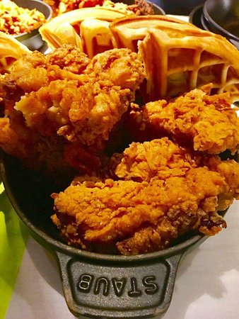 Come Join is for Chef Keller's Famous Fried Chicken and Waffles