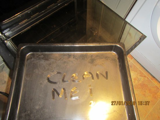 Didmarton, UK: Oven tray was filthy and greasy . be warned!