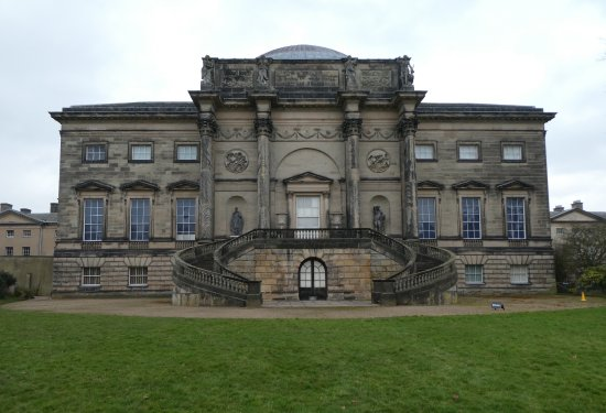 The grand staircase at the rear of Kedleston Hall
