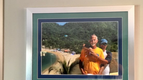 Jet Took This Photo Of Us In Yelapa We Had It Blown Up And Framed