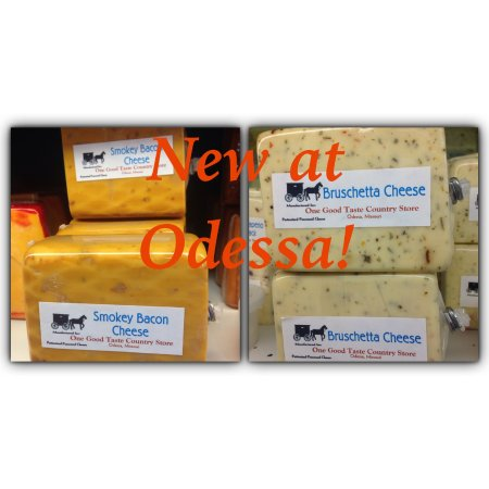Odessa, Missouri: Smokey Bars are now available in several varieties:  Bacon, Green Onion, Hot Pepper, Swiss, Ched