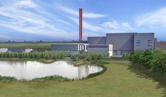Marston Moretaine, UK: Planners' view of the waste incinerator.