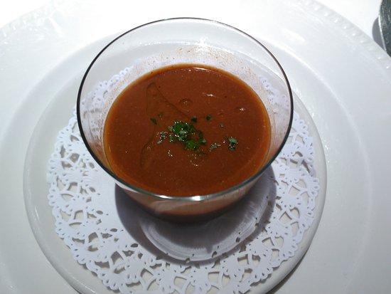 Restaurante Casa Zabala: Crema de langostinos