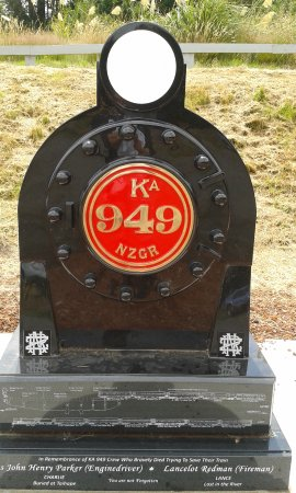 Ohakune, New Zealand: train memorial