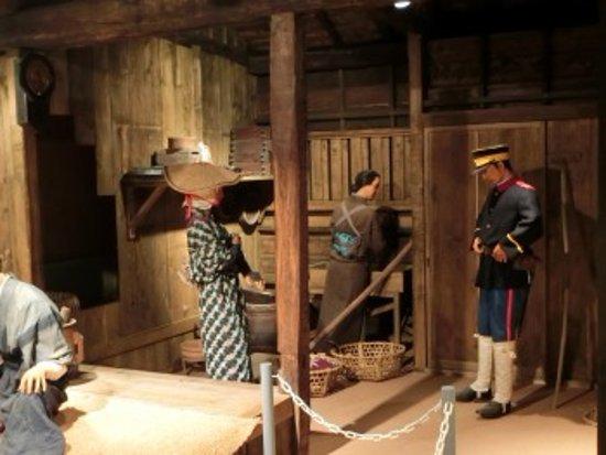 Chippubetsu-cho, Japan: 屯田兵屋の模型