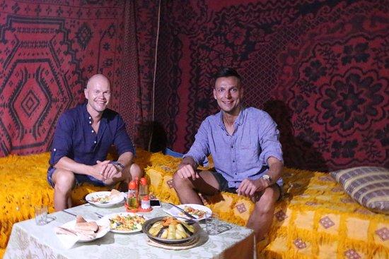 Ksar Bicha: at the camp in Erg Chebbi