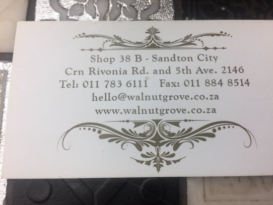 Business card picture of walnut grove johannesburg tripadvisor walnut grove business card colourmoves