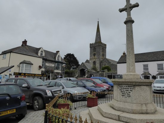 St Keverne Parish Church: view from the square
