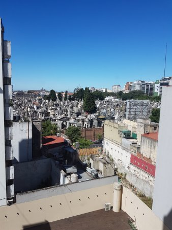Dazzler Recoleta: Looking out on to the Recoleta Cemetery