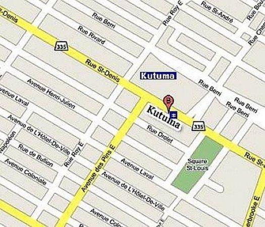 Hotel Kutuma: Map
