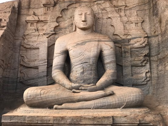 "Wagtours: curved from Singke stone ""Lord Buddha"""