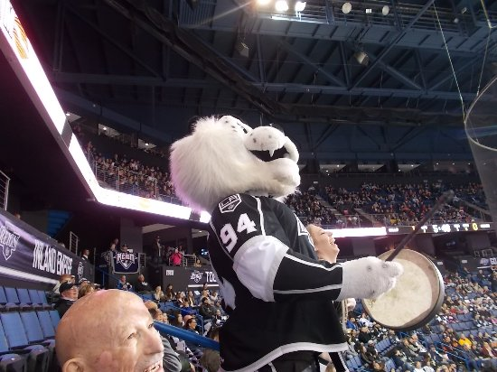 Citizens Business Bank Arena, Ontario Reigns HOCKEY MASCOT, Ontario, CA.