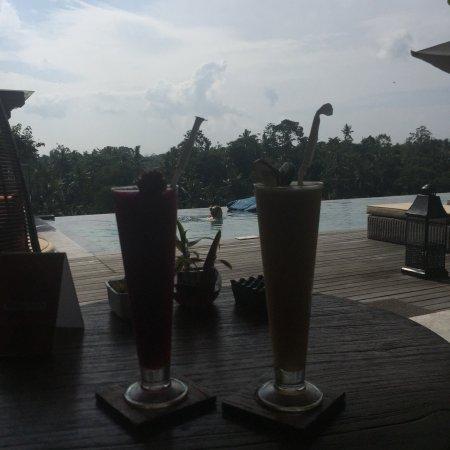 Senja Bay Resort: Se puede pedir más? Dragonfruit smoothie