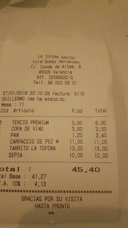 Restaurante la tofona en valencia for La comisaria restaurante valencia