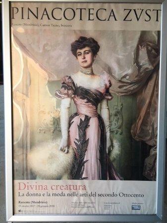 Rancate, Pinacoteca cantonale Giovanni Züst: manifesto della Mostra Divina creatura