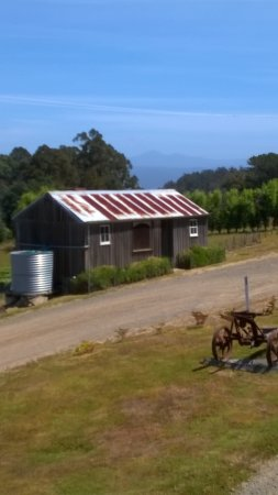 Gardners Bay, Αυστραλία: Pickers hut and view