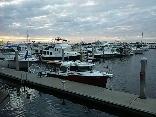 View of the marina from Joe's Crab Shack in downtown Fort Myers, FL.