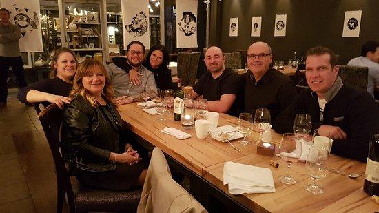 Cowansville, Canadá: souper de famille bien arrosé