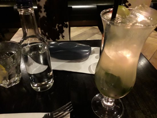 Chimichanga: Mojito & a bottle of water