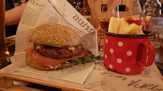 "Domzale, Slovenya: an ""Induplati"" burger"