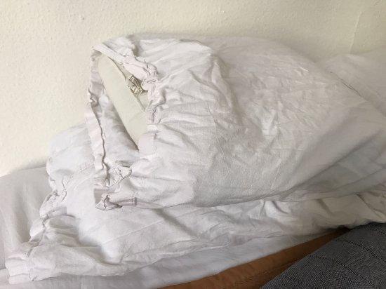 Lenin Hostel: Almohadas sucias y arrugadas