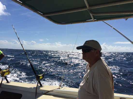 Wayward Wind Grenada Fishing: This is trolling off Grenada on a hot, sunny, gorgeous day