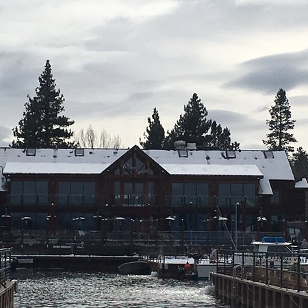 Restaurant With Dock In Lake Tahoe