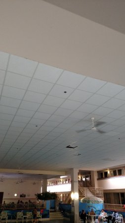 Wausau, WI: Ceiling tiles out of place.
