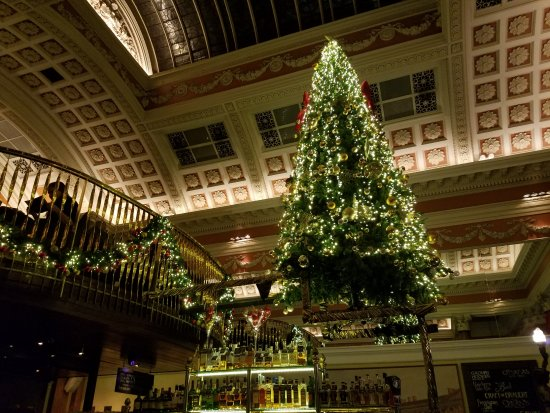 Mezzanine and gorgeous holiday decor. - Picture of The Bank ...