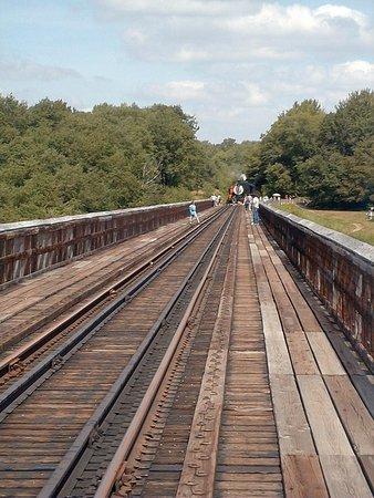 Mount Jewett, Pennsylvanie : Aug, 1999, when they still ran steam trains over the viaduct.