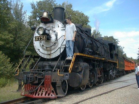 Mount Jewett, Pennsylvanie : The tourist steam train in Aug., 1999
